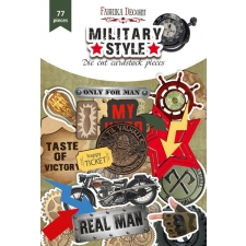 "Set of die cuts ""Military Style"", 77 pcs"