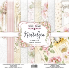 """Double-sided scrapbooking paper set """"Nostalgia"""", 8""""x8"""""""