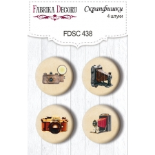 "Flair buttons. Set of 4pcs #438 ""Family Heritage"""