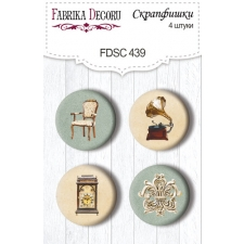 "Flair buttons. Set of 4pcs #439 ""Family Heritage"""