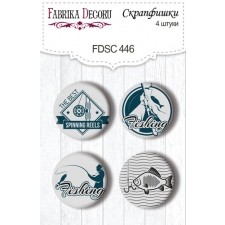 """Flair buttons. Set of 4pcs #446 """"Fishing"""""""