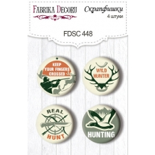 "Flair buttons. Set of 4pcs #448 ""Hunting"""