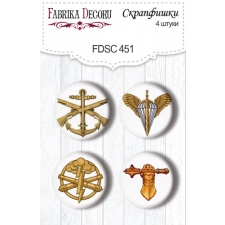 "Flair buttons. Set of 4pcs #451 ""Military Style"""