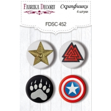 "Flair buttons. Set of 4pcs #452 ""Military Style"""