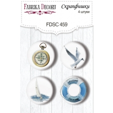 "Flair buttons. Set of 4pcs #459 ""Memories of the Sea"""