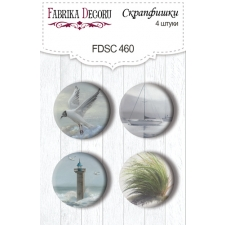 "Flair buttons. Set of 4pcs #460 ""Memories of the Sea"""