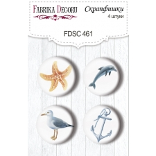 "Flair buttons. Set of 4pcs #461 ""Memories of the Sea"""