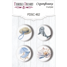 "Flair buttons. Set of 4pcs #462 ""Memories of the Sea"""