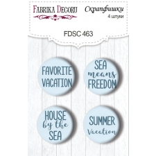 "Flair buttons. Set of 4pcs #463 ""Memories of the Sea"""