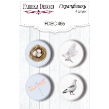 "Flair buttons. Set of 4pcs #465 ""Tender Spring"""