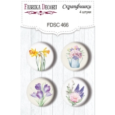 "Flair buttons. Set of 4pcs #466 ""Tender Spring"""