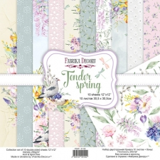 "Double-sided scrapbooking paper set ""Tender Spring"", 12""x12"""
