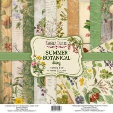 """Набор скрапбумаги """"Summer Botanical Diary"""", 20x20 см"""