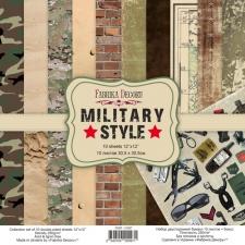 """Набор скрапбумаги """"Military Style"""", 30,5x30,5 см"""
