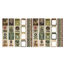 "Set of stripes with pictures for decoration ""Military Style"""