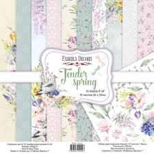 "Double-sided scrapbooking paper set ""Tender Spring"", 8""x8"""