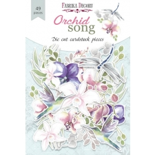 """Set of die cuts """"Orchid Song"""", 49 pcs"""