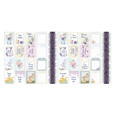 "Set of stripes with pictures for decoration ""Tender Spring"""