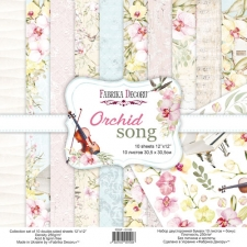 "Double-sided scrapbooking paper set ""Orchid Song"", 12""x12"""