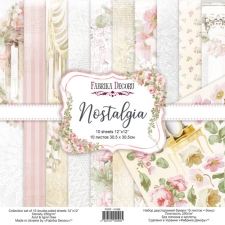 "Double-sided scrapbooking paper set ""Nostalgia"", 12""x12"""