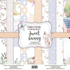 """Double-sided scrapbooking paper set """"Sweet Bunny"""", 8""""x8"""""""