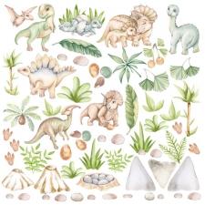 "Decorative sheet for cutting ""Dinosauria"""