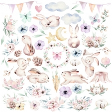 """Decorative sheet for cutting """"Sweet Bunny"""""""