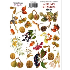 "Набор наклеек (стикеров) #225, ""Autumn Botanical Diary"""