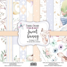 """Double-sided scrapbooking paper set """"Sweet Bunny"""", 12""""x12"""""""