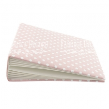 "Blank album with a soft fabric cover ""Peas in Pink"""