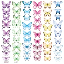 "Decorative sheet for cutting ""Butterflies 6"""