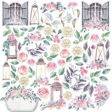 "Decorative sheet for cutting ""Shabby Love"""