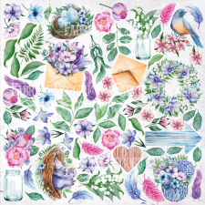 "Decorative sheet for cutting ""Colorful Spring"""