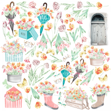 "Decorative sheet for cutting ""Scent of Spring"""