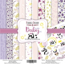 "Double-sided scrapbooking paper set ""My Little Baby Girl"", 12""x12"""