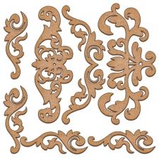 MDF dekoratiivelementide komplekt #04