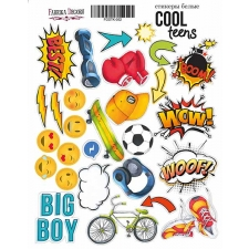 "Kit of stickers #052, ""Cool Teens"""