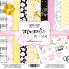 "Double-sided scrapbooking paper set ""Magnolia in bloom"", 12""x 12"" , Fabrika Decoru"