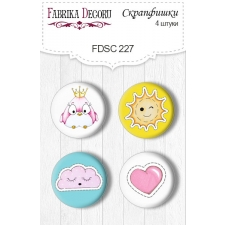 Flair buttons. Set of 4pcs #227