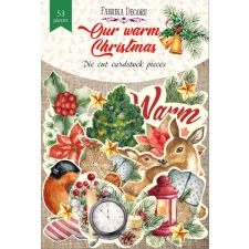 "Set of die cuts ""Our Warm Christmas"", 53pcs"