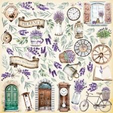 """Лист с картинками для вырезания """"Journey to Provence"""""""