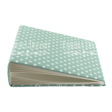 "Blank album with a soft fabric cover ""Peas in Mint"""