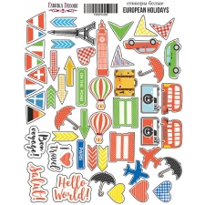 "Kit of stickers #002, ""European holidays"""