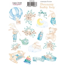 "Kit of stickers #086, ""Dreamy Baby Boy"""