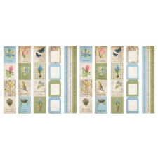 "Set of stripes with pictures for decoration ""Botany Spring"""