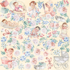 "Decorative sheet for cutting ""Shabby Baby Girl"""