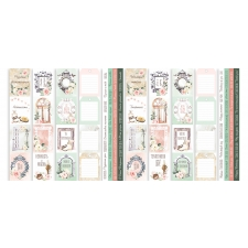 "Set of stripes with pictures for decoration ""Tenderness and Love"""