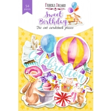 "Set of die cuts ""Sweet Birthday"", 54 pcs"