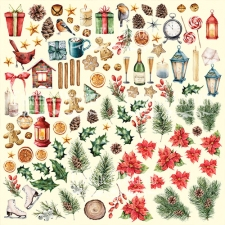 "Decorative sheet for cutting ""Our Warm Christmas"""