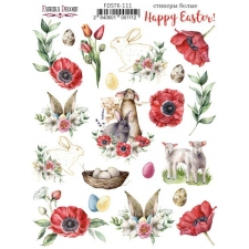 "Kit of stickers #111, ""Happy Easter"""